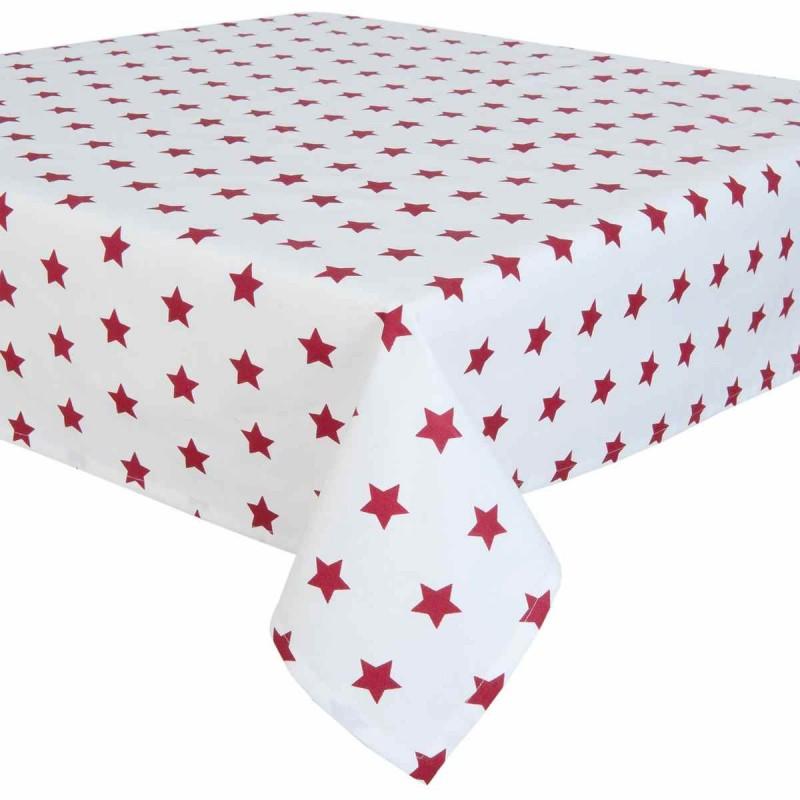 catch a star tischdecke rot 130 x 180 cm clayre eef cas03r 37. Black Bedroom Furniture Sets. Home Design Ideas