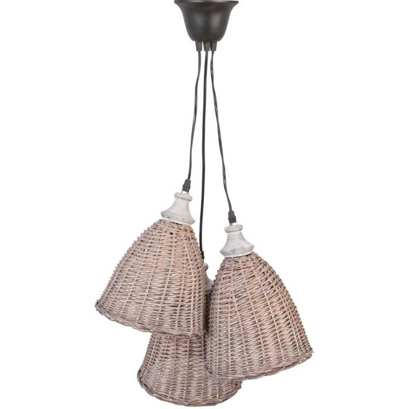 clayre eef 6lmp215 h ngelampe deckenlampe lampe rattan nat. Black Bedroom Furniture Sets. Home Design Ideas