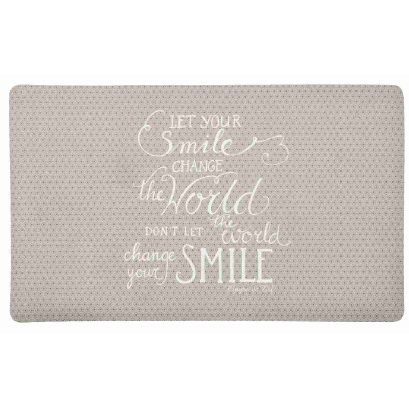 Clayre U0026 Eef MC089 Fußmatte Türmatte Spruch Let Your Smile Change The  World... Ca. 74 X 44 Cm