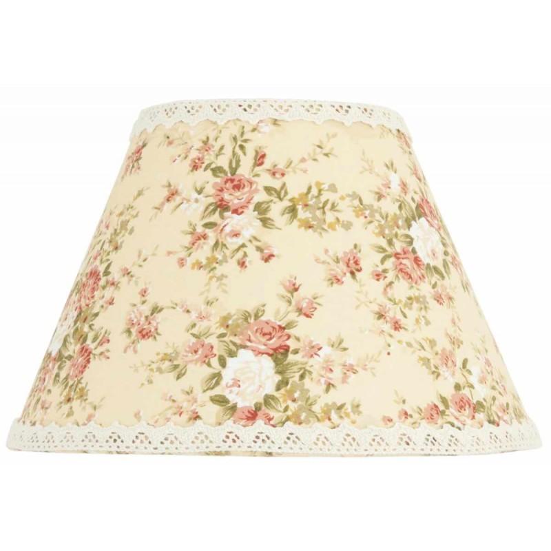 lampenschirm blumen rosa 23 x 15 cm clayre eef 6lak031. Black Bedroom Furniture Sets. Home Design Ideas