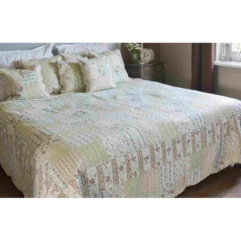 tagesdecke bunt blumen 140 x 220 cm clayre eef 21 98. Black Bedroom Furniture Sets. Home Design Ideas