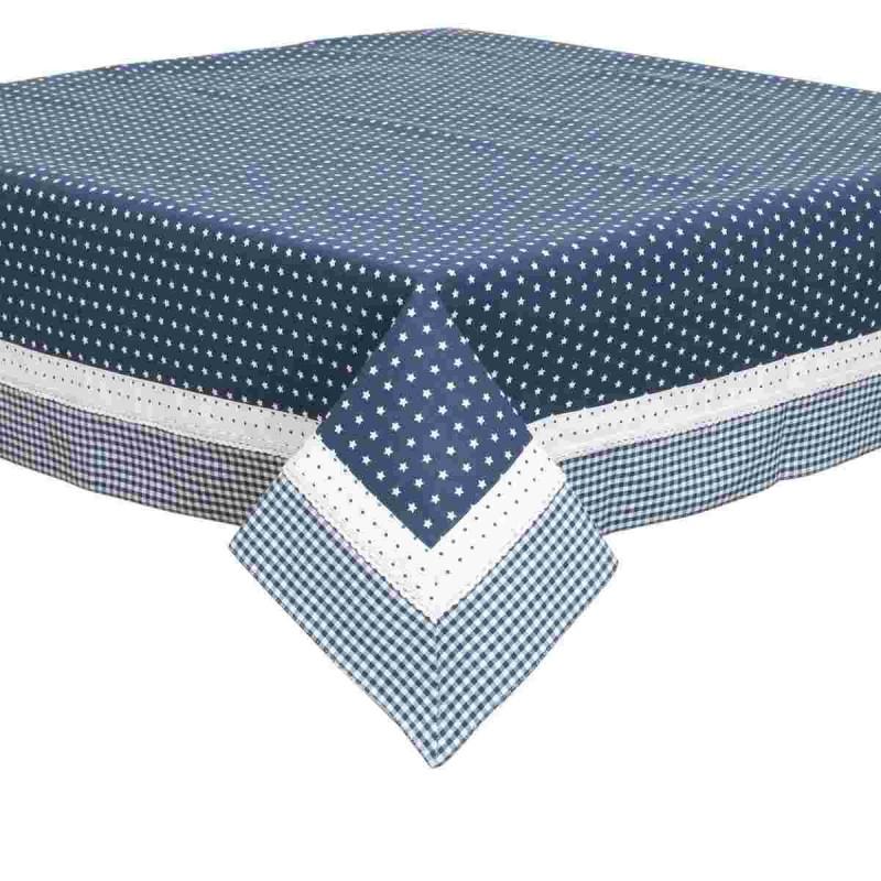 twinkle little star tischdecke blau 130 x 180 cm clayre eef tls. Black Bedroom Furniture Sets. Home Design Ideas