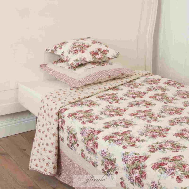 tagesdecke rosenmotiv 140 x 220 cm clayre eef 69 28. Black Bedroom Furniture Sets. Home Design Ideas