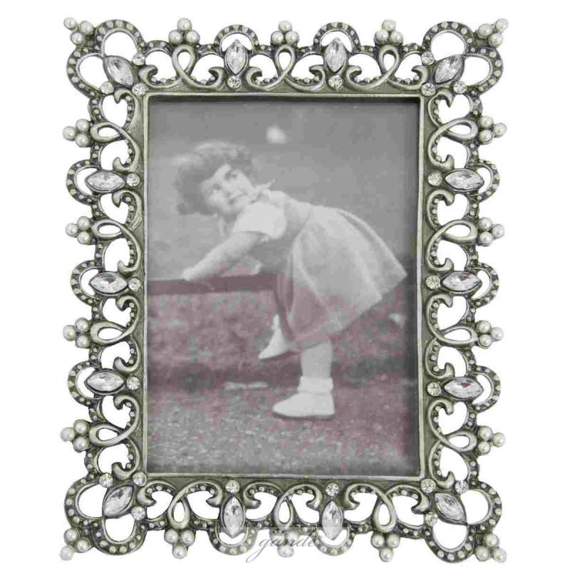 Clayre & Eef 2138 Bilderrahmen Fotorahmen Silberfarben ca. 6 x 9