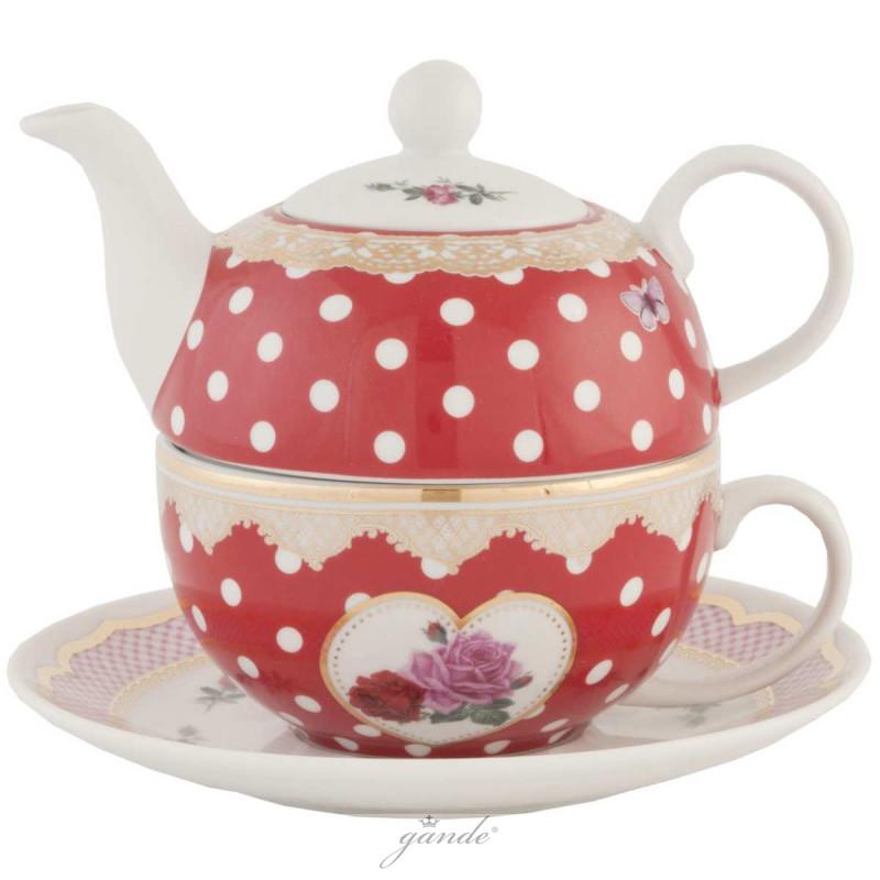clayre eef madtefo madame dottie tea for one teekanne tas. Black Bedroom Furniture Sets. Home Design Ideas