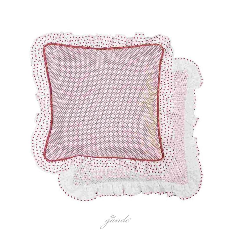 clayre eef dot20r dotted kissenbezug kissenh lle kissen mit r schen 7 70. Black Bedroom Furniture Sets. Home Design Ideas