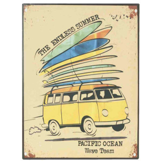Deko Dekoration Bild Textschild Schild THE ENDLESS SUMMER 30 x 40 cm Clayre & Eef 6Y1604