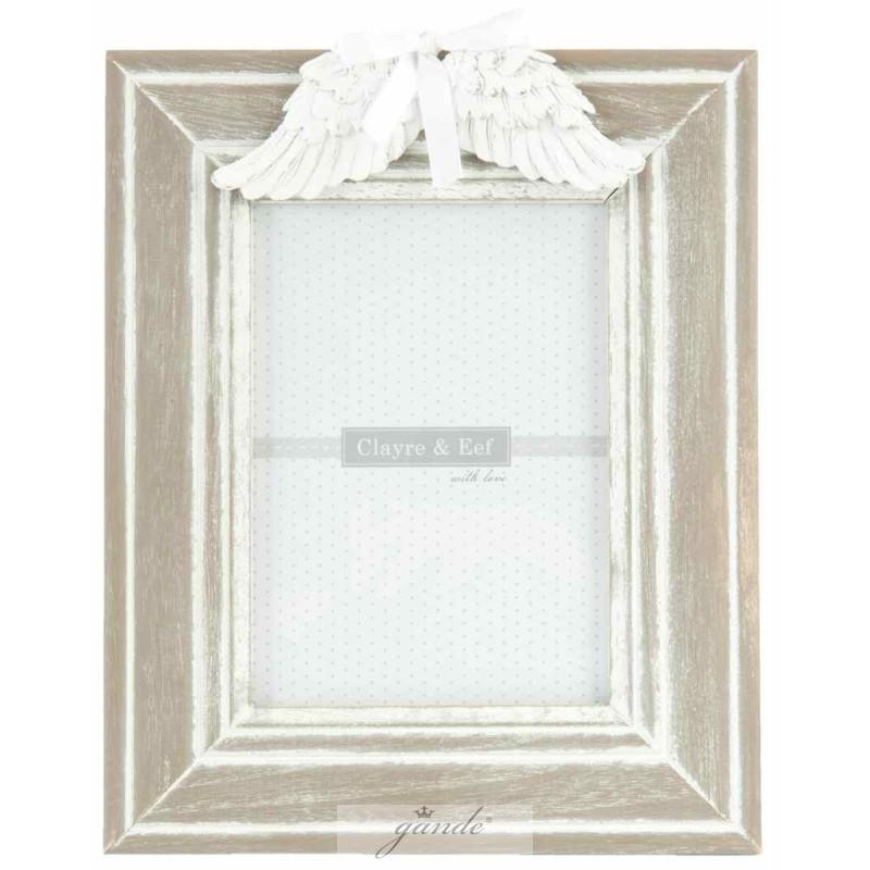 Bilderrahmen Fotorahmen Flügel weiß 22 x 28 cm Bildausschn
