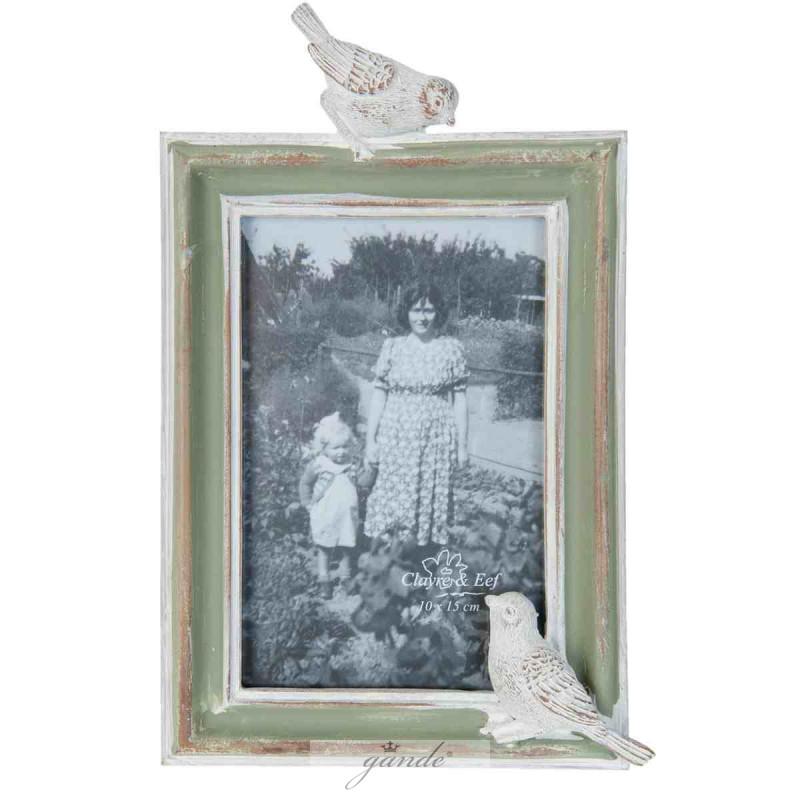 Bilderrahmen Fotorahmen Vögel 14 x 23 x 3 cm Bildausschnitt 4 x