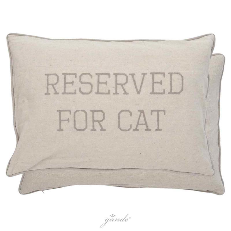 kissenbezug kissenh lle reserved for cat 35 x 50 cm clayre eef kt03 14 01. Black Bedroom Furniture Sets. Home Design Ideas