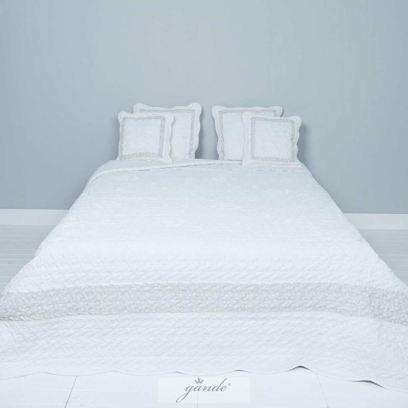 bett berwurf tagesdecke 260 x 260 cm clayre eef. Black Bedroom Furniture Sets. Home Design Ideas