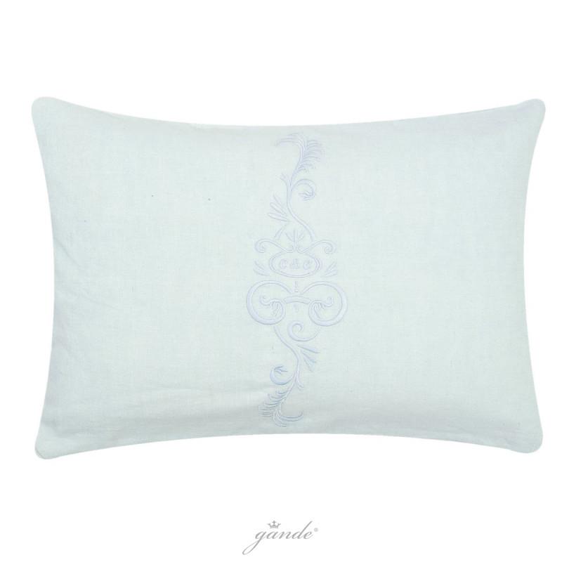 Clayre /& Eef Kissenhülle 35 x 50 cm Leinen und Baumwolle French Flower Weiß