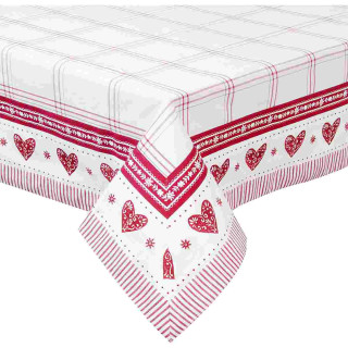 Beauties of Winter Tischdecke rot 130 x 180 cm Clayre & Eef BOW03