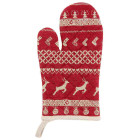 Ofenhandschuh Nordic Christmas rot 16 x 30 cm Clayre &...