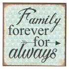 Magnet Family forever for always 7 x 7 x 0,3 cm Clayre &...