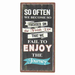 Magnet ENJOY THE Journey 5 x 10 x 0,3 cm Clayre & Eef MMM00059