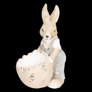 6TE0261 Osterhase Hase mit Osterei 30*23*48 cm Clayre & Eef