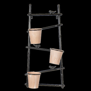 5Y0507 Imposantes Pflanzregal Pflanztreppe Blumentopf Pflanzständer 17*34*70 cm Clayre & Eef