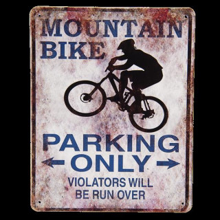 6Y3593 Nostalgieschild Wandschild Textschild Mountain Bike Parking Only 25*20 cm Clayre & Eef