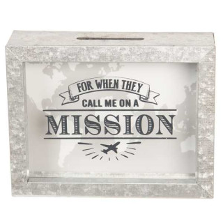6Y3402 Spardose Moneybox For Whey they call me on a mission 18*5*14 cm Clayre & Eef