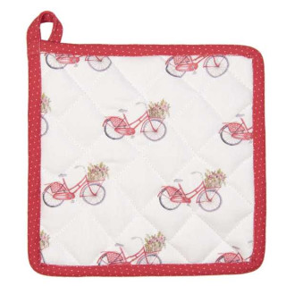 RBC45 Topflappen Kochlappen Serie Red bicylcle 20*20 cm Clayre & Eef